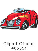 Royalty-Free (RF) Hot Rod Clipart Illustration #65651
