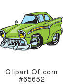 Royalty-Free (RF) Hot Rod Clipart Illustration #65652