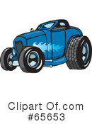 Royalty-Free (RF) Hot Rod Clipart Illustration #65653