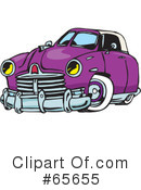 Royalty-Free (RF) Hot Rod Clipart Illustration #65655