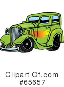 Royalty-Free (RF) Hot Rod Clipart Illustration #65657
