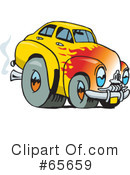 Royalty-Free (RF) Hot Rod Clipart Illustration #65659
