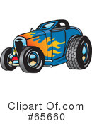 Royalty-Free (RF) Hot Rod Clipart Illustration #65660