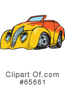 Royalty-Free (RF) Hot Rod Clipart Illustration #65661