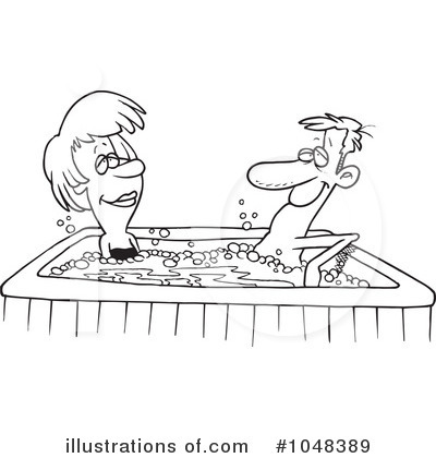 hot tub coloring pages