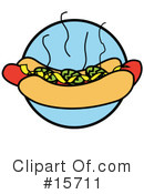Royalty-Free (RF) Hotdog Clipart Illustration #15711