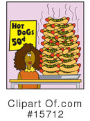 Royalty-Free (RF) Hotdogs Clipart Illustration #15712