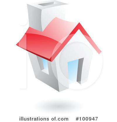 Royalty-Free (RF) House Clipart Illustration by cidepix - Stock Sample #100947