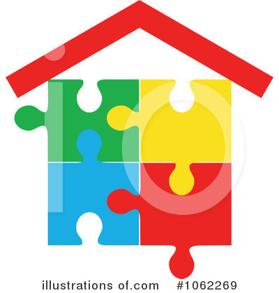 Royalty-Free (RF) House Clipart Illustration by Vector Tradition SM - Stock Sample #1062269