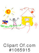 Royalty-Free (RF) House Clipart Illustration #1065915
