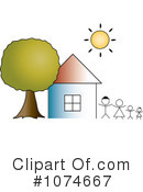 House Clipart #1074667 by Pams Clipart