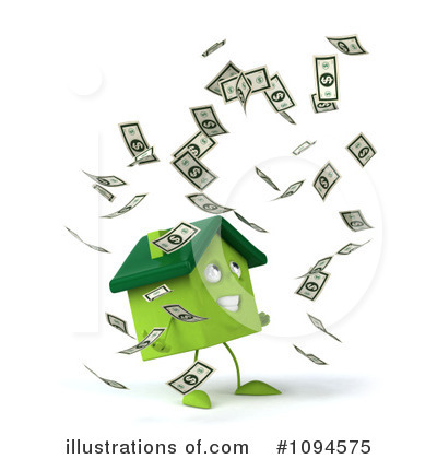 Royalty-Free (RF) House Clipart Illustration by Julos - Stock Sample #1094575