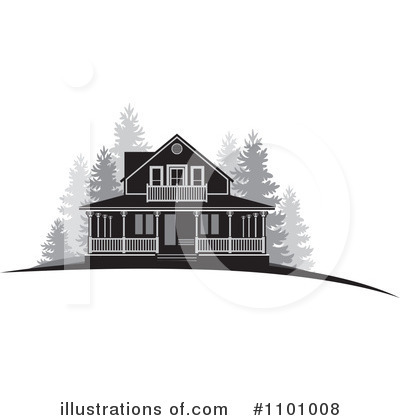 House Clipart #1101008 by Lal Perera