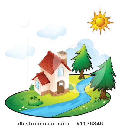 House Clipart #1136846 by Graphics RF