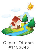 Royalty-Free (RF) House Clipart Illustration #1136846