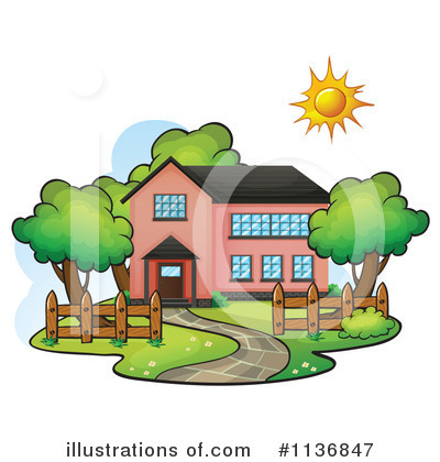 House Clipart #1136847 by Graphics RF