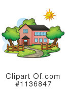 Royalty-Free (RF) House Clipart Illustration #1136847