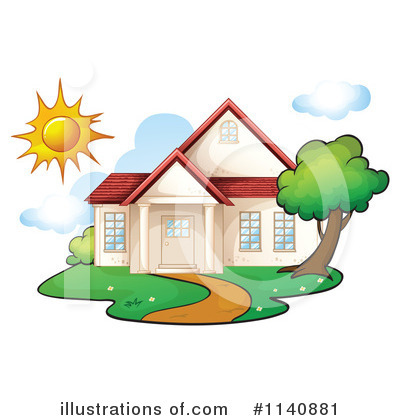 House Clipart #1140881 by Graphics RF