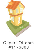 Royalty-Free (RF) House Clipart Illustration #1176800