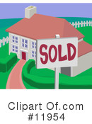 Royalty-Free (RF) House Clipart Illustration #11954