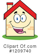 House Clipart #1209740 by Hit Toon