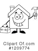 House Clipart #1209774 by Hit Toon