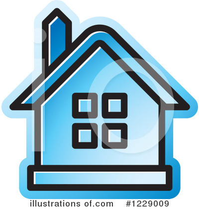 Royalty-Free (RF) House Clipart Illustration by Lal Perera - Stock Sample #1229009