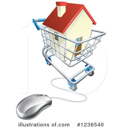 Shopping Cart Clipart #1236540 by AtStockIllustration