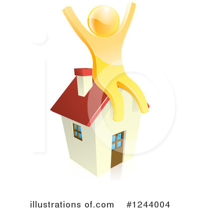 House Clipart #1244004 by AtStockIllustration