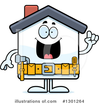 Royalty-Free (RF) House Clipart Illustration by Cory Thoman - Stock Sample #1301264