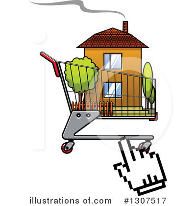Shopping Cart Clipart #1307517 by Vector Tradition SM