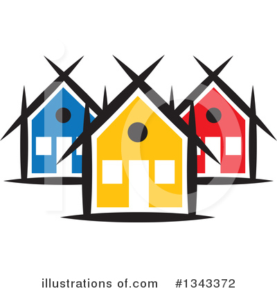 Neighborhood Clipart #1343372 by ColorMagic
