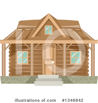 Cabin Clipart #1346842 by BNP Design Studio