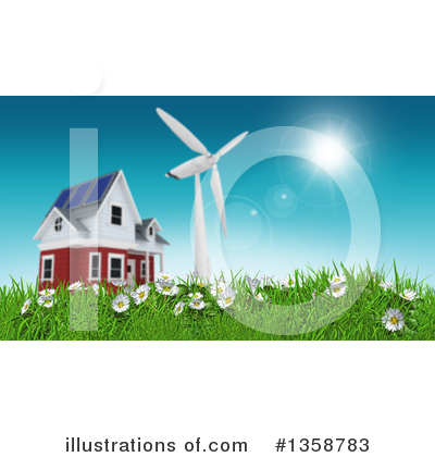 Wind Turbine Clipart #1358783 by KJ Pargeter