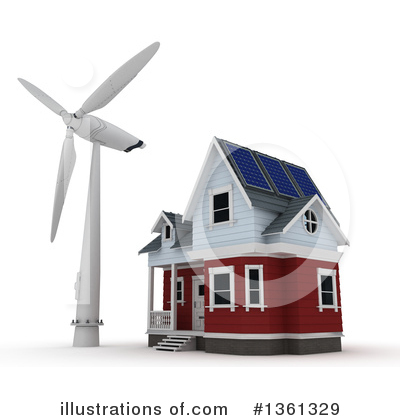 Wind Turbine Clipart #1361329 by KJ Pargeter