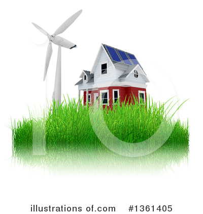 Wind Turbine Clipart #1361405 by KJ Pargeter