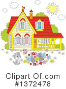 House Clipart #1372478 by Alex Bannykh