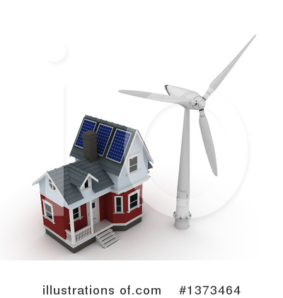 Wind Turbine Clipart #1373464 by KJ Pargeter