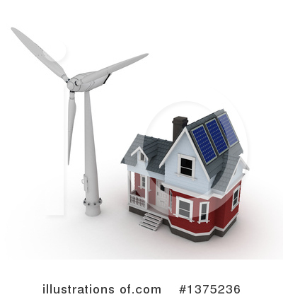 Wind Turbine Clipart #1375236 by KJ Pargeter