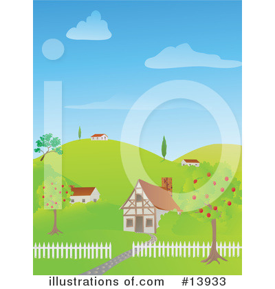 Royalty-Free (RF) House Clipart Illustration by Rasmussen Images - Stock Sample #13933