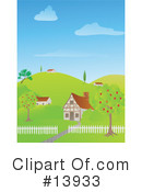Royalty-Free (RF) House Clipart Illustration #13933