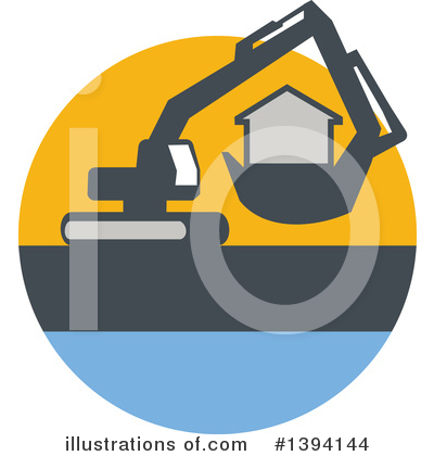 Royalty-Free (RF) House Clipart Illustration by patrimonio - Stock Sample #1394144