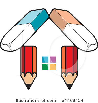 Pencil Clipart #1408454 by Lal Perera