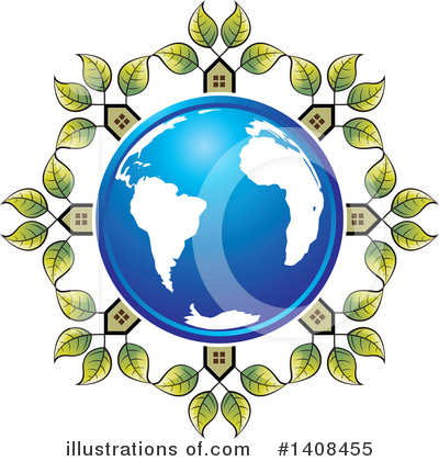 Royalty-Free (RF) House Clipart Illustration by Lal Perera - Stock Sample #1408455