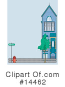 Royalty-Free (RF) House Clipart Illustration #14462