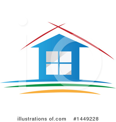 House Clipart #1449228 by Domenico Condello