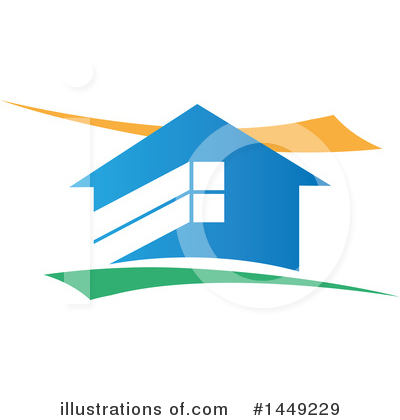 Royalty-Free (RF) House Clipart Illustration by Domenico Condello - Stock Sample #1449229