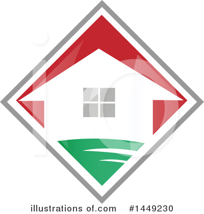 House Clipart #1449230 by Domenico Condello
