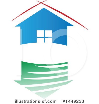 House Clipart #1449233 by Domenico Condello