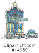 Royalty-Free (RF) House Clipart Illustration #14959